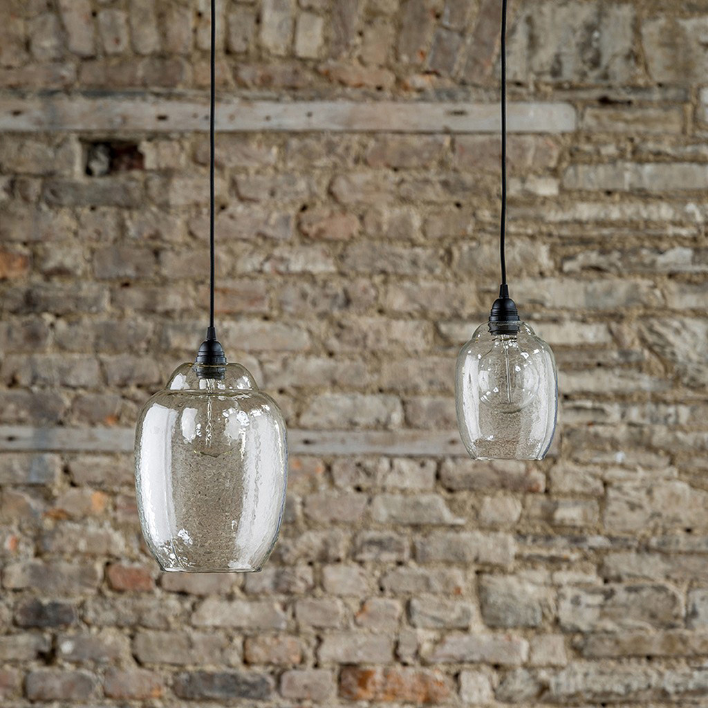Hanging glass pendant