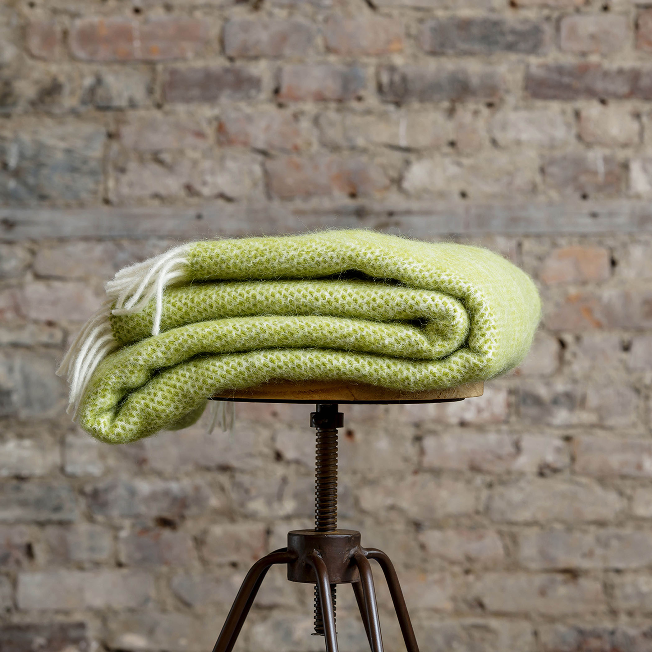 Kiwi Green Throw