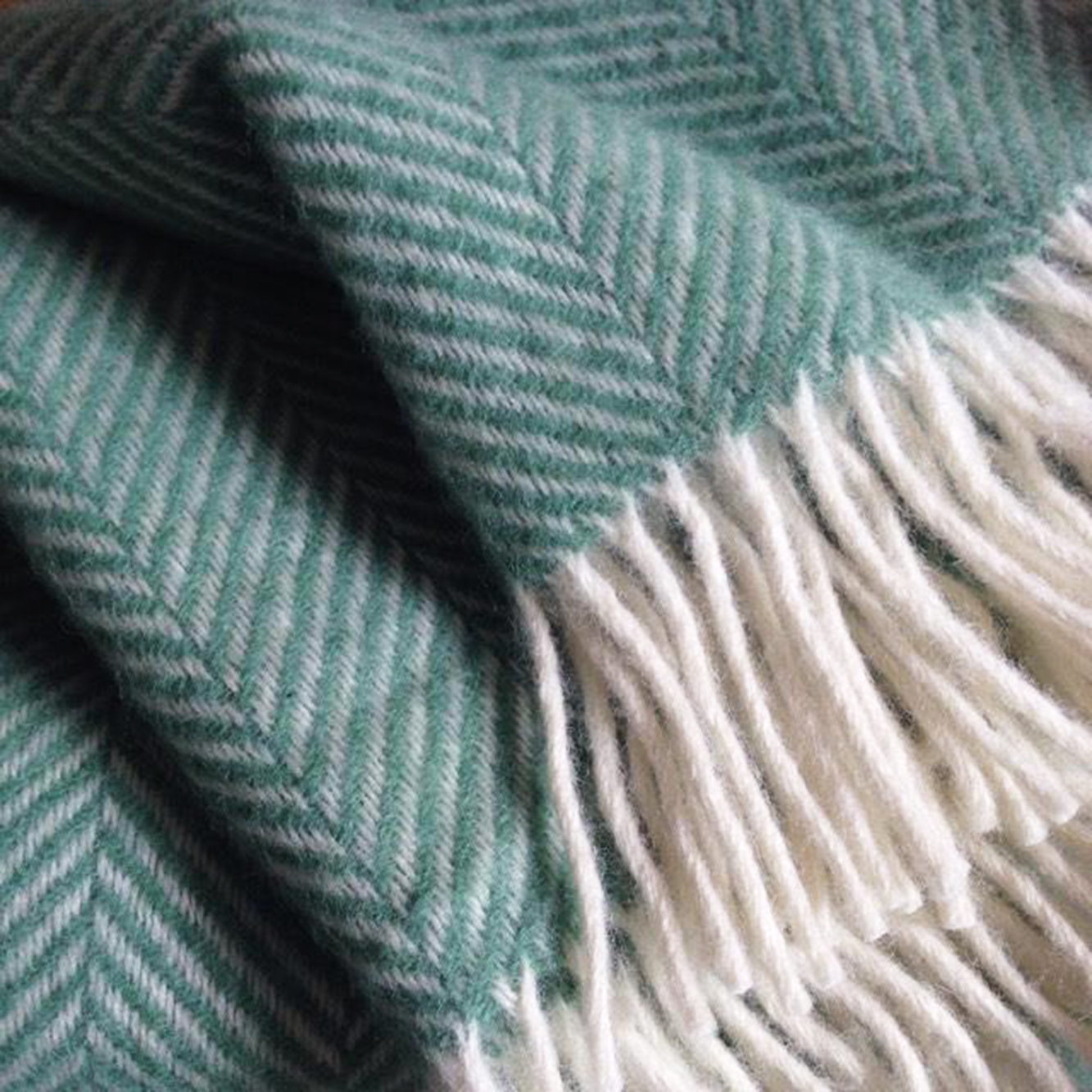 Sea green throw