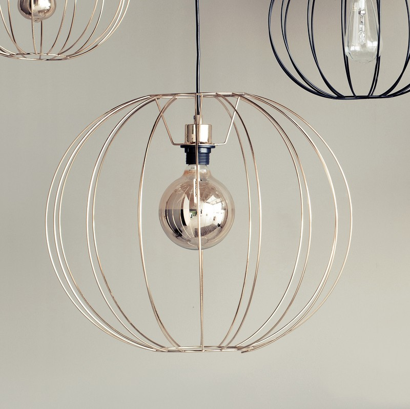brass wire pendant light