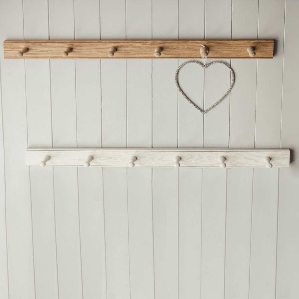 Oak peg rails