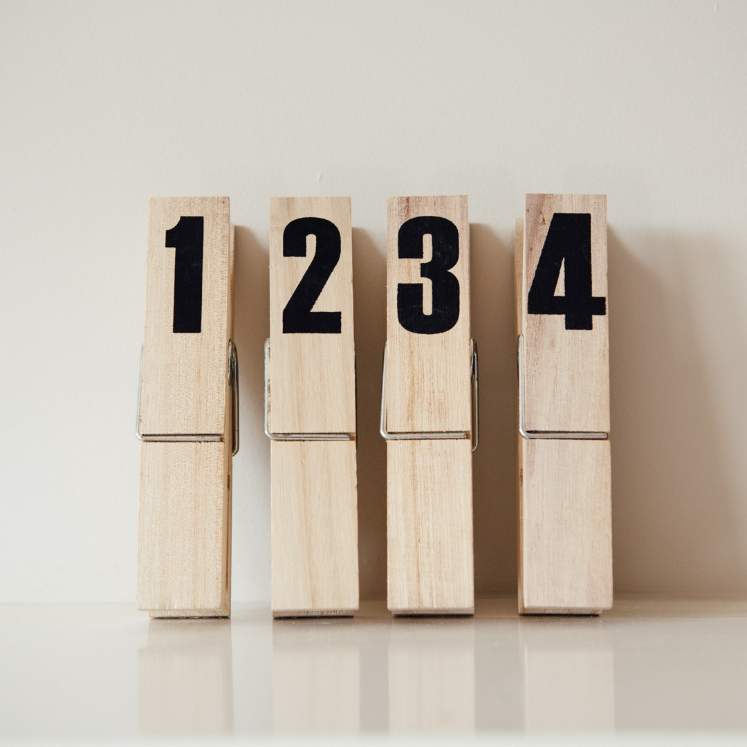 Large numbered pegs
