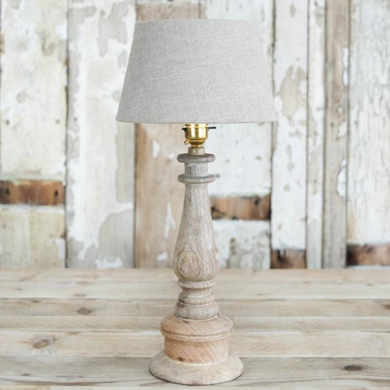 Mango wood lamp
