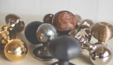selection of beautiful door knobs