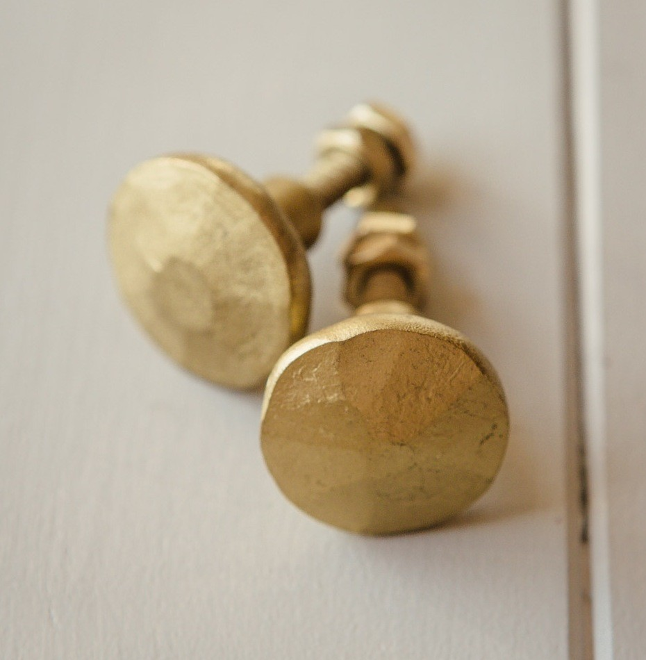 Brass cabinet knobs