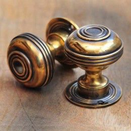 Large Bloxwich Brass Door Knob