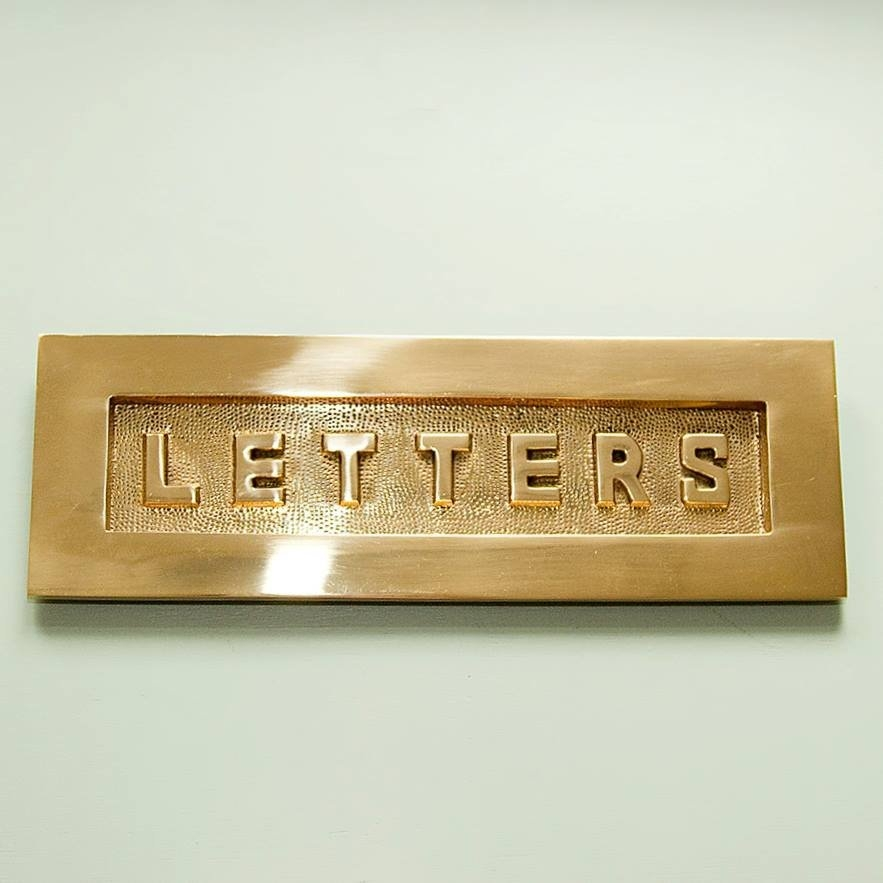 brass letters letterplate